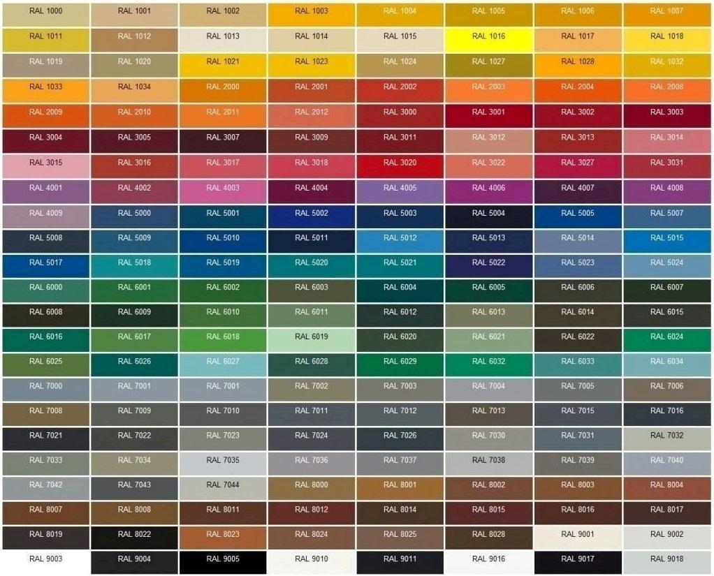 Paleta barw lakierów kryjących dodrewna - Comfort